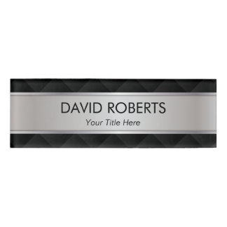 Modern Silver Metallic Striped Professional