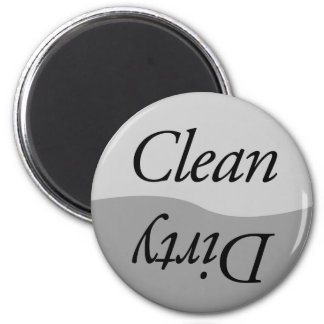 Modern Silver Titanium look Clean or Dirty Dishes Magnet