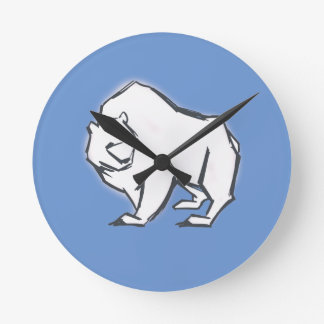 Modern, Simple & Beautiful Hand Drawn Bear Wallclock