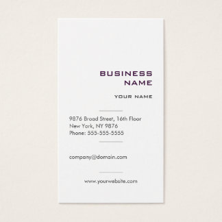 Modern Simple Professional Business Card
