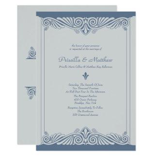 Modern Slate, Deco Wedding Card