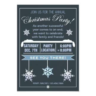 Modern Snowflake Annual Christmas Party Invitation