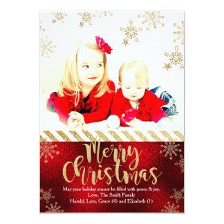Modern Snowflake Christmas Photo Card