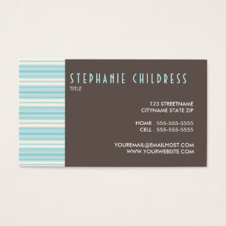 Modern Stripes Contemporary Personal Business Card