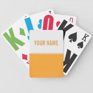 Modern Stripes Orange Gold Custom Card Deck