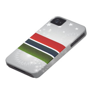 Modern Stripped Gambian flag iPhone 4 Case-Mate Case