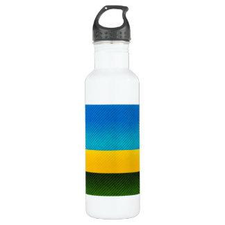 Modern Stripped Rwandan flag 710 Ml Water Bottle