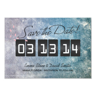 Modern Stylish Spring Wedding Save the Date Cards