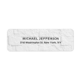 Modern Stylish Trendy Unique Special Gray Wall Return Address Label