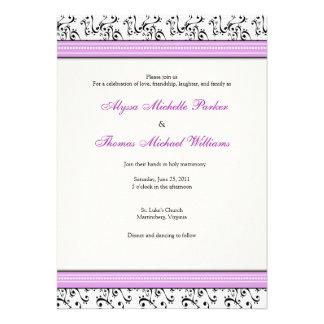 Modern Swirl Wedding Invitation (Lilac)