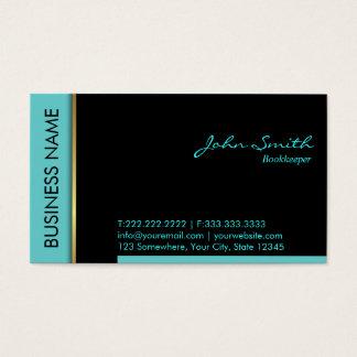 Modern Teal Border Bookkeeper Business Card