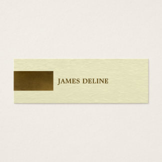 Modern Texture Copper Pattern Personal Consultant Mini Business Card