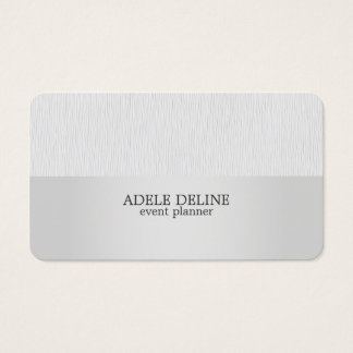Modern Texture Grey Silver Event Planner Business Card