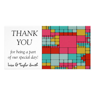 Modern textured abstract design featuring  colorfu photo greeting card