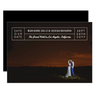 Modern Title Block Photo Save the Date Invitation