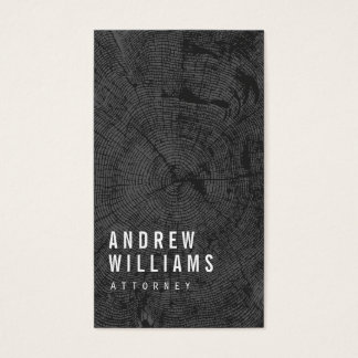 Modern Tree Rings Attorney, Lawyer Business Card