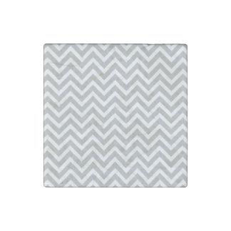 modern trend grey chevron stone magnet