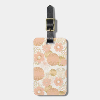 modern trends blush flower blooms luggage tag