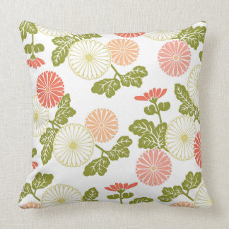 modern trends coral floral pillows