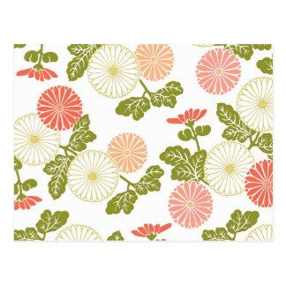 modern trends coral floral postcards