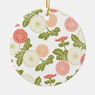 modern trends coral floral round ceramic decoration