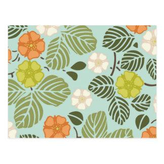 modern trends seafoam floral postcard