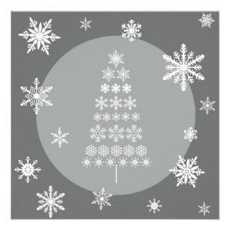 modern trends snowflake tree invitation