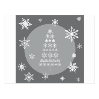 modern trends snowflake tree post cards