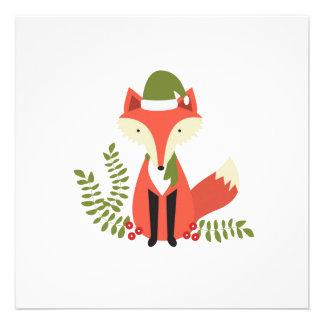 modern trends woodland christmas fox invites