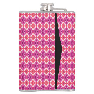 Modern trendy art hip flask