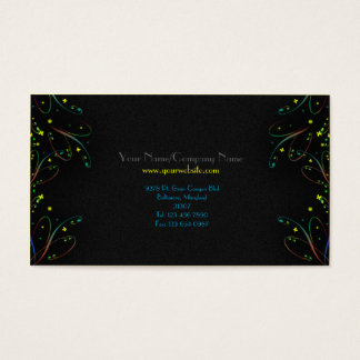 Modern Trendy Butterfly Swirls Business Card