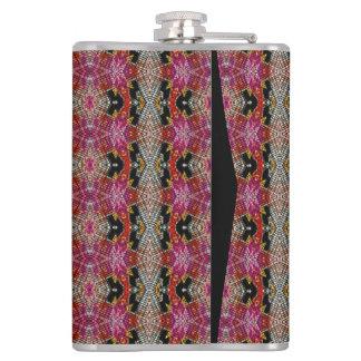 Modern trendy decorative pattern hip flask