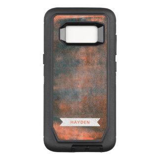 Modern Trendy Orange and Blue Rolled Ink OtterBox Defender Samsung Galaxy S8 Case