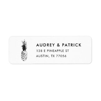 Modern Trendy Pineapple Return Address Return Address Label