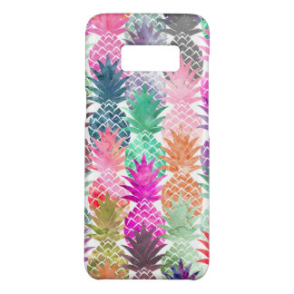 Modern tropical pineapples pastel watercolor Case-Mate samsung galaxy s8 case