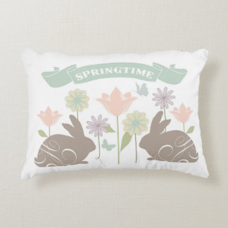 Modern vintage Easter bunny Decorative Cushion