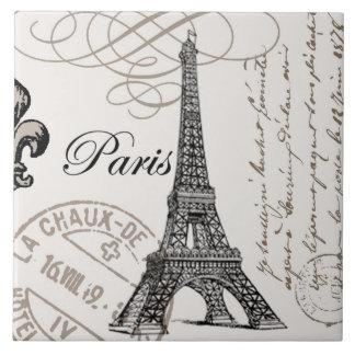 modern vintage Eiffel Tower Tile
