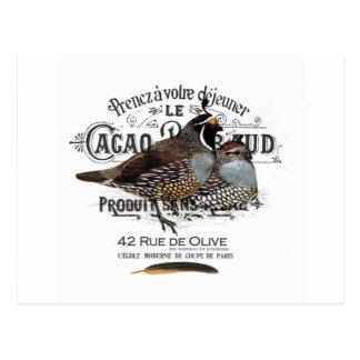modern vintage fall quail postcard