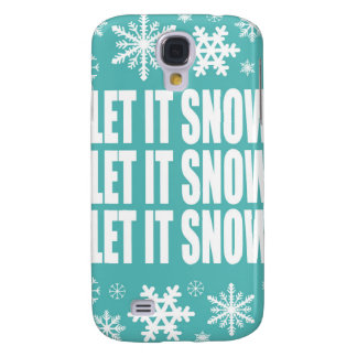 modern vintage whimsical snowflakes galaxy s4 case