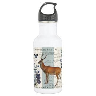 modern vintage woodland deer 532 ml water bottle
