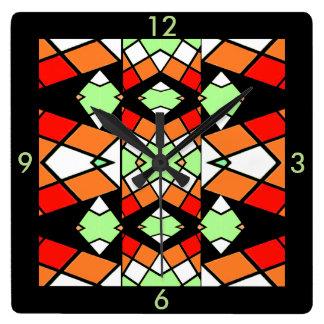 Modern Wall Clock -on Red/Green/White/Orange/Black