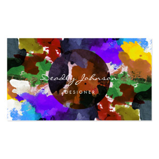 Modern Watercolor Abstract Elegant Cool Pack Of Standard Business Cards