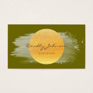 Modern Watercolor Abstract Elegant Green Yellow