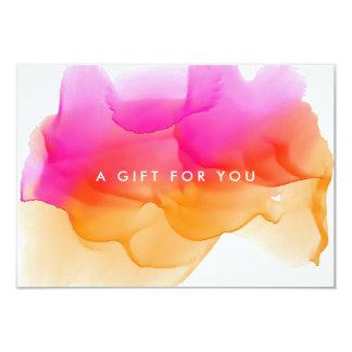 Modern Watercolor Blot | Gift Certificate Card