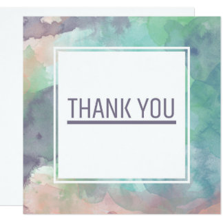 Modern Watercolor Colorful Thank You Card