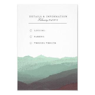 Modern Watercolor Mountain Information Card
