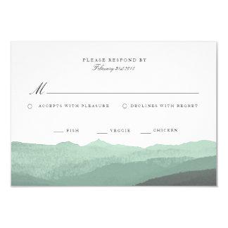 Modern Watercolor Mountain RSVP Card