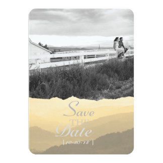 Modern Watercolor Mountain Save The Date 11 Cm X 16 Cm Invitation Card