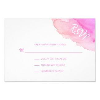 Modern Watercolor Peach Pink  RSVP Insert Cards