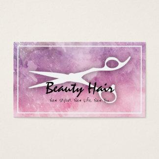 Modern Watercolor Scissors Hair Beauty Salon